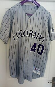 Colorado Rockies Authentic Jersey Game used/issued Size 48, Russell Athletic MLB