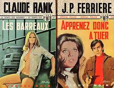 Fleuve Noir // Lot de 2 titres // 1 ère Edition // Policier // RANK - FERRIERE