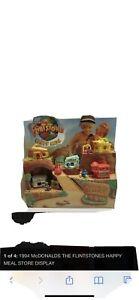 Very Rare Display 1994 flintstones mcdonalds display With toys