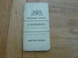 1902 ORIGINAL ORDNANCE SURVEY MAP LLANDUDNO 1 INCH TO MILE LINEN