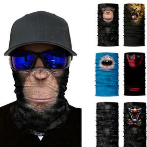 2020 3D Animal Face Sun Scarf Neck Gaiter Skull Balaclava Scarf Headwear Fishing