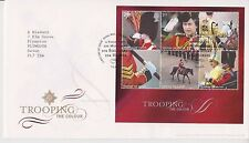 TALLENTS PMK GB ROYAL MAIL FDC 2005 TROOPING THE COLOUR STAMP MINIATURE SHEET