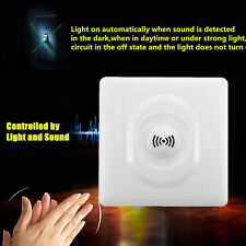 Auto Light Lamp Sensor Switch Wall Controlled Delay Mount Voice Sound Activated