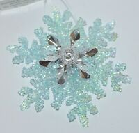 BATH & BODY WORKS LARGE BLUE SNOWFLAKE MAGNET LARGE 3 WICK CANDLE DECOR TOPPER
