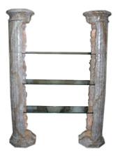 Griechisches Regal Raumteiler Verkaufsvitrine Standsäule Säulenrgegal Marmor
