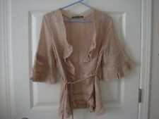Japan Lights & Music by Vivayou Nude Pink Blouse with Lace Trim