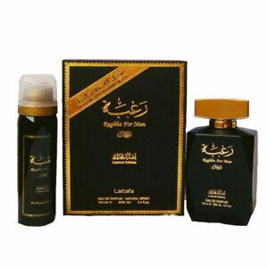 RAGHBA FOR MAN 100ml BY LATTAFA PERFUME SPRAY with 50ml Free Deodorant
