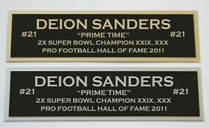 Deion Sanders nameplate for signed jersey football helmet or photo