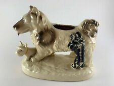 Vintage dog planter sheltie schnauzer