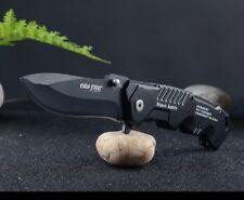 Black Sable Edelstahl Outdoormesser Jagdmesser Klappmesser Einhand Navy Knife