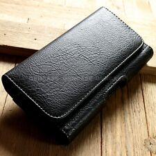 For Apple iPhone 7 4.7 Wallet Case Black Leather Holster Belt Clip Card Holder