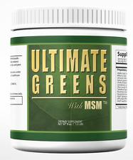 Ultimate Greens MSM  Powder Natural Vegan Alkalize Body PH Energy Vegetable