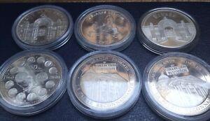 Lot De 6 Médaille En Argent De La Monnaie De. Paris. (Collection)