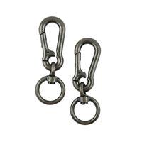 2PCS Swivel Snap Hook Spring Carabiner Hanger Locking Clip Keychain Camping