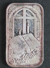2005 Silver Towne O Holy Night Silver Art Bar ST-290 Lot P1588
