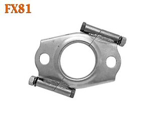 """FX81 2"""" ID Exhaust Flange Formed Oval Angle Split Front Pipe Repair Replacement"""