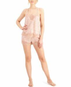 INC International Concepts Sz S Lace-Trim Cami & Shorts Pajama Set Snake Skin