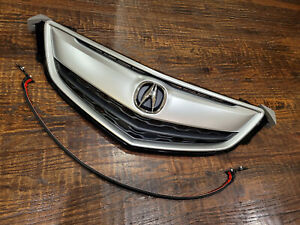 Fits NEW ACURA TLX 2015 2016 2017 Front Grille Grill Satin nickel W/ OEM Emblem
