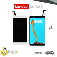 LCD TOUCH SCREEN DISPLAY ASSEMBLATO LENOVO K6 NOTE K53A48 BIANCO SCHERMO AAA+