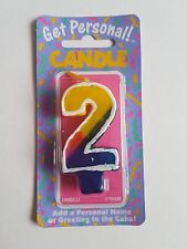 2nd BIRTHDAY NUMBER 2 CANDLE AGE 2 CANDLE 2ND PARTY CAKE DECORATION