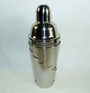 Pottery Barn Stainless Steel Cocktail Shaker Drink Mixer 15 Dial-a-Drink Recipe