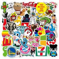 100Pcs Cute cartoon Skateboard Stickers Vinyl Laptop Luggage Decals Dope Sticker