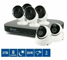 Camera 8 Channel Smart surveillance HD 2TB DVR 2 3MP Dome CCTV Kit night vision