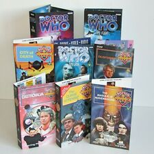 BBC Doctor Who VHS Case Sleeves x 8  Fenric City of Death Time-Flight Mandragora