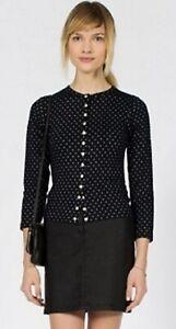 Agnes B Women's Black Viscose Snap Cardigan Size FR 1 US S