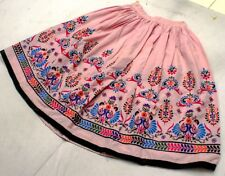 Gypsy India Boho Embroidery Banjara Tribal Kuchi Rabari Ethnic Belly Dance Skirt