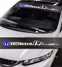 HONDA Mugen Power Drift Racing Windshield Carbon Fiber Banner Decal Sticker DIY