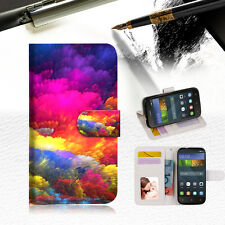 Colorful Cloud Wallet Case Cover For HUAWEI Y5 Y560-- A021