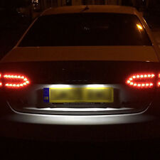 AUDI A6 S6 C6 UPTO 2008 NUMBER PLATE LED LIGHT BULBS XENON WHITE NO ERROR CANBUS