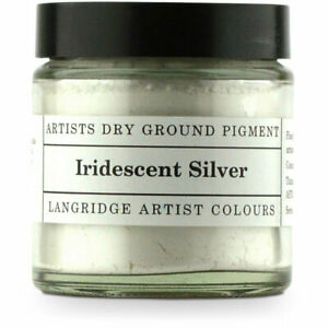 NEW Langridge Dry Ground Pigment 120ml - Irridescent Silver