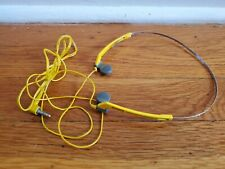 SONY MDR-W15 Sports Dynamic Stereo Headphones Yellow Tested and working Walkman