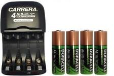 AA/AAA Smart Charger with USB Plug + 4-Pack AA Duracell NiMH 2450 mAh Batteries