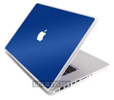 """BLUE Vinyl Lid Skin Cover Decal fits Apple G4 Powerbook 15"""" Laptop"""
