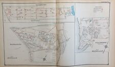 1914 Copy Atlas Map Kensington Manhasset Glenwood Landing Nassau Long Island Ny