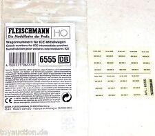 Los números de carro medios ice carro fleischmnn 6555 nuevo 1/87 hv5 µg