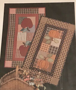Thimbleberries HARVEST TABLE TOPPERS RUNNERS Quilt Pattern APPLES Or PUMPKINS