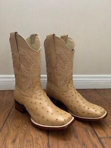 Men's Los Altos Ostrich Boots Oryx Genuine Handcrafted Size 8 8220311