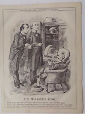 Revista Punch antiguo libro de impresión de 1874 Benjamin Disraeli gerentes Room 10x8 pulgadas