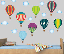 Hot Air Balloons & Clouds - Pack of 18 Wall Stickers Mural Decal Childrens Sky