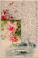 1905 - ROSA ROSE ROSES ROSEN CARTOLINA POSTCARD CARTE POSTALE POSTKARTE FLOWERS