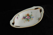RS GERMANY PRUSSIA PORCELAIN 100% HAND PAINTED TRAY OPEN SALT CELLAR DIP SIGNED