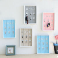 Wall Mounted Key Holder Wooden Key Hanger with 6 Hook Wall Creative Decorative