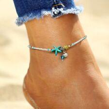 Women Boho Vintage Anklet Starfish Beads Ankle Bracelet Beach Foot Chain Gift