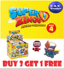 SUPERZINGS SERIES 4 KID KAZOOM GOLD SILVER PICK YOUR OWN DANGER GANG BLASTER JET