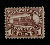 New Brunswick SC# 6, Mint Hinged, Heavy Hinge Remnant - S10764