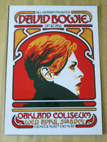 DAVID BOWIE : ON STAGE OAKLAND COLISEUM : A4 GLOSSY REPRODUCTION POSTER